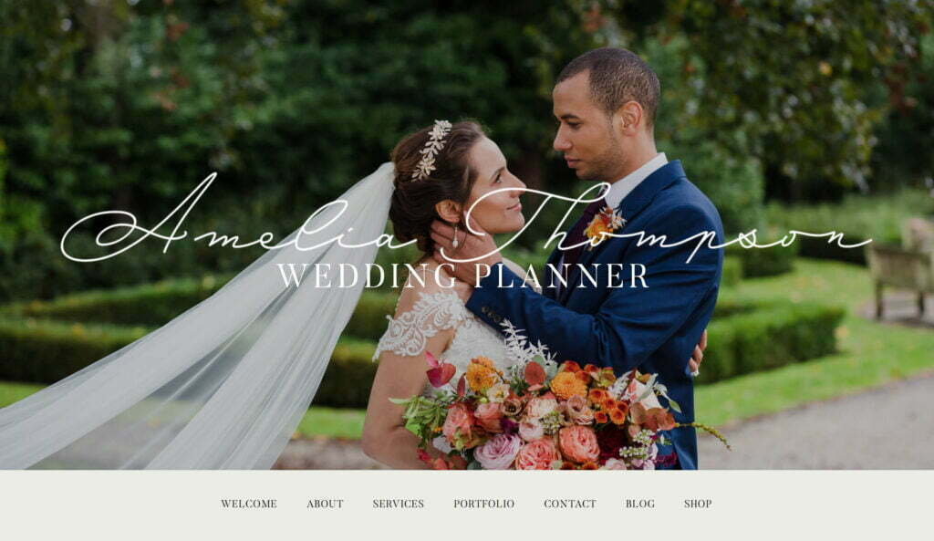 Amelia Thompson Wedding Planner website design by Life Group